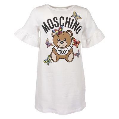 Abito bianco Teddy Bear in felpa di cotone