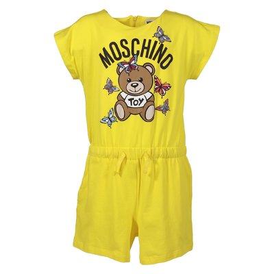 Tuta giallo limone Teddy Bear in jersey di cotone