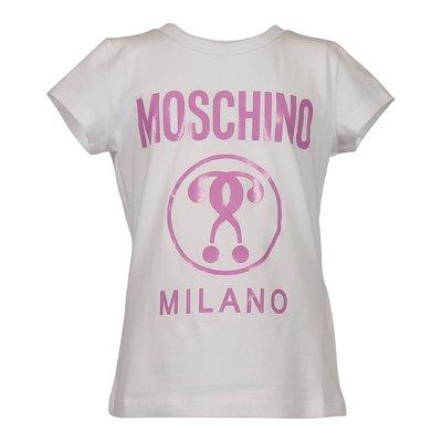 T-shirt bianca Moschino Milano in jersey di cotone