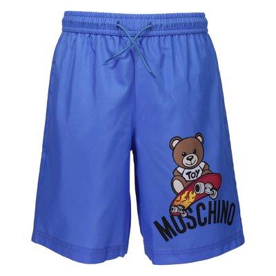 Royal blue nylon swim shorts