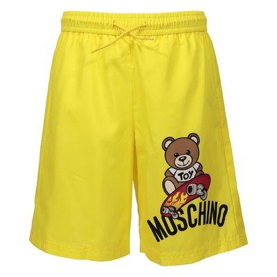 Lemon yellow nylon swim shorts