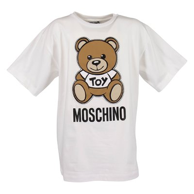 T-shirt bianca Teddy Bear in jersey di cotone