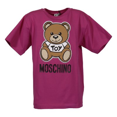 T-shirt fucsia Teddy Bear in jersey di cotone