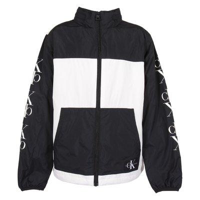 White contrasting details nylon jacket