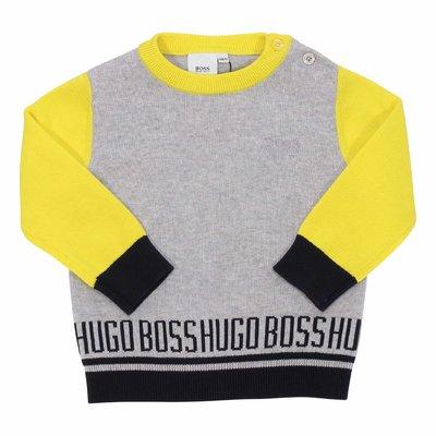 Jacquard logo detail cotton knit jumper