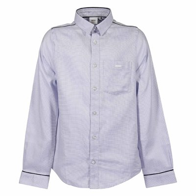 Light blue cotton poplin shirt