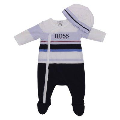 Set da regalo con tutina e cappello in jersey di cotone