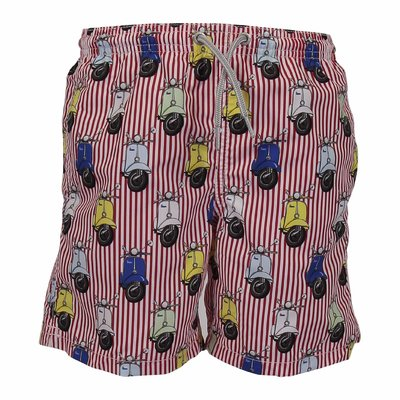 Vespa Limited Edition striped nylon swim shorts