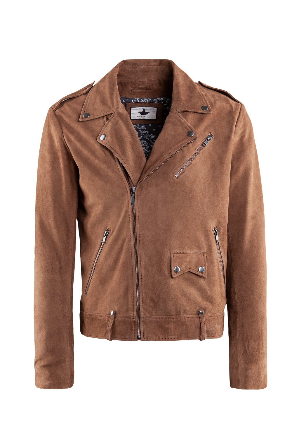 Biker jacket in suede leather