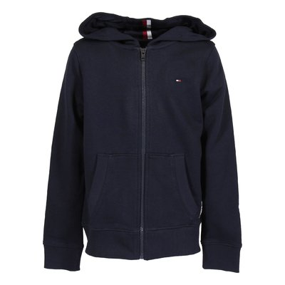 Navy blue cotton hoodie