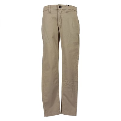 Beige cotton gabardine pants