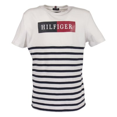 White striped hem t-shirt