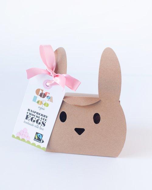 Coco Loco Organic White Chocolate and Raspberry Mini Eggs