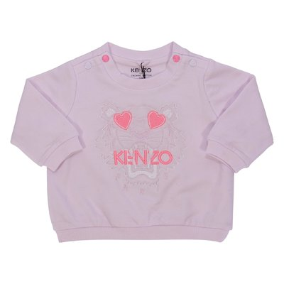 Pink cotton Tiger sweatshirt