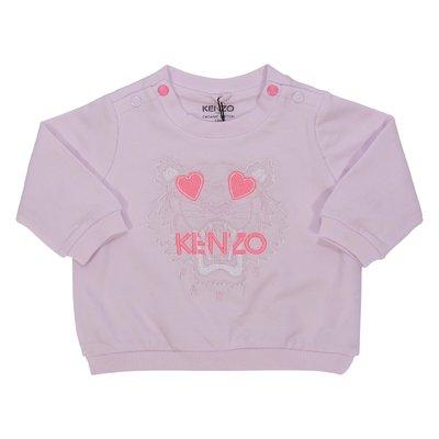 Felpa rosa Tiger in cotone