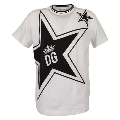 White Millennials Star theme cotton jersey t-shirt