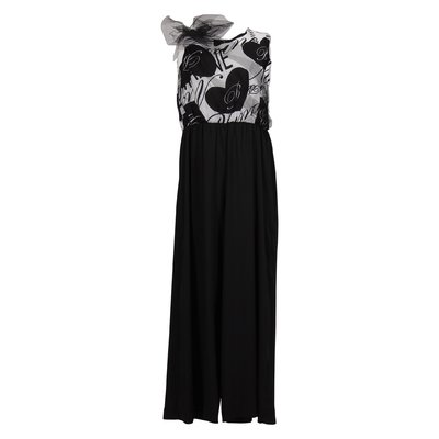 Two-tone techno jumpsuit
