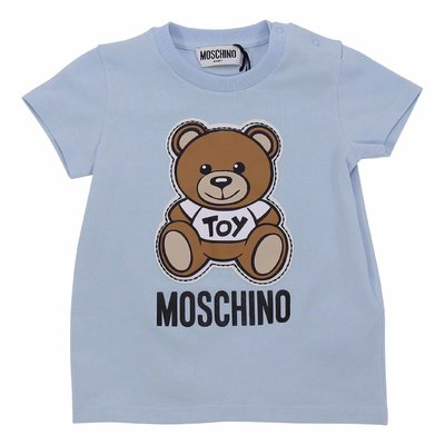 Moschino light blue cotton jersey Teddy Bear t-shirt