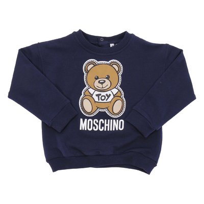Felpa blu navy Teddy Bear in cotone