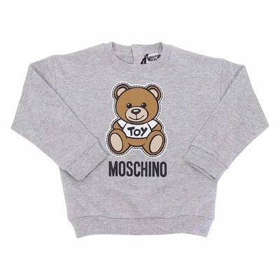 Moschino melange grey cotton Teddy Bear sweatshirt