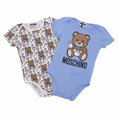 Moschino cotton jersey two bodysuits gift set