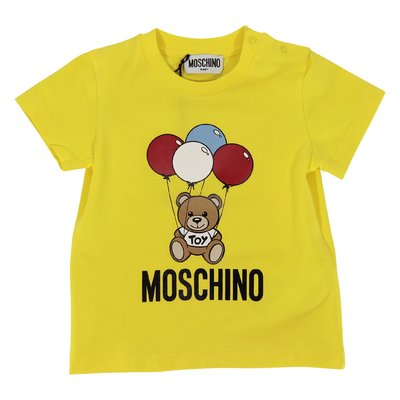 T-shirt giallo limone Teddy Bear in jersey di cotone
