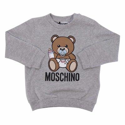 Felpa grigio melange Teddy Bear in cotone