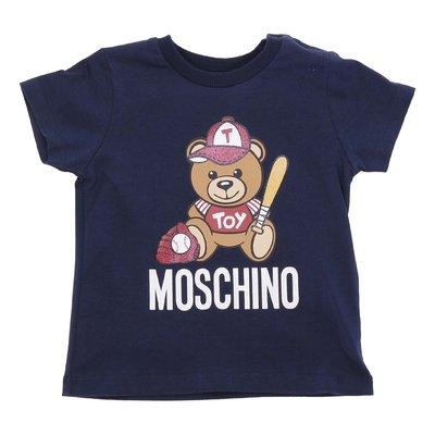 T-shirt blu navy Teddy Bear in jersey di cotone