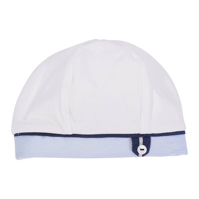 White cotton jersey hat