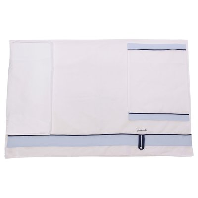 White cotton two piece sheet with pillowcase