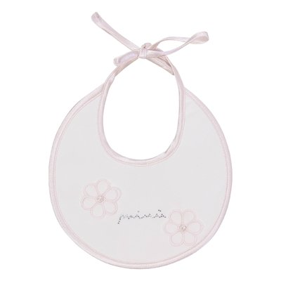 White decorated logo cotton jersey bib