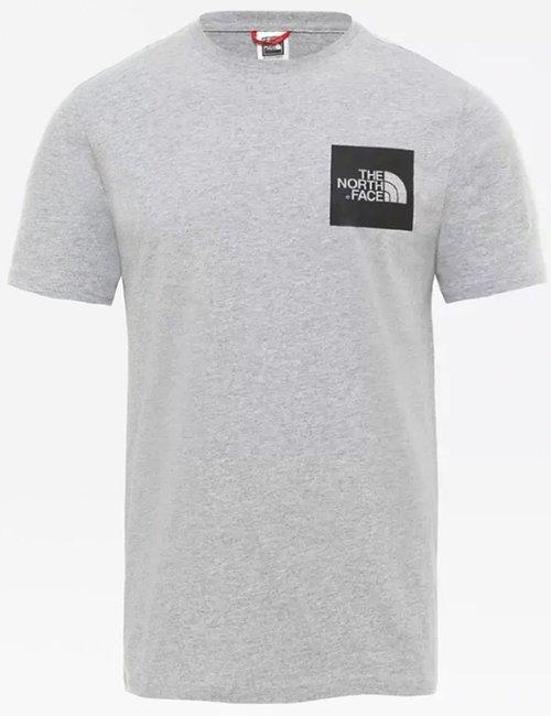 T-shirt The North Face con logo quadrato - Grigio
