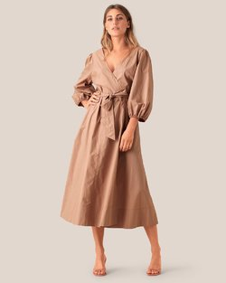 Phoebe Wrap Midi Dress