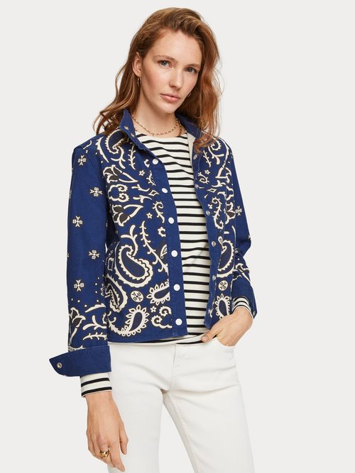 Printed Canvas Jacket