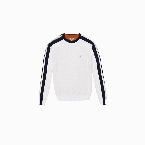 Sweater Man E32 in recycled Polycotton round neck