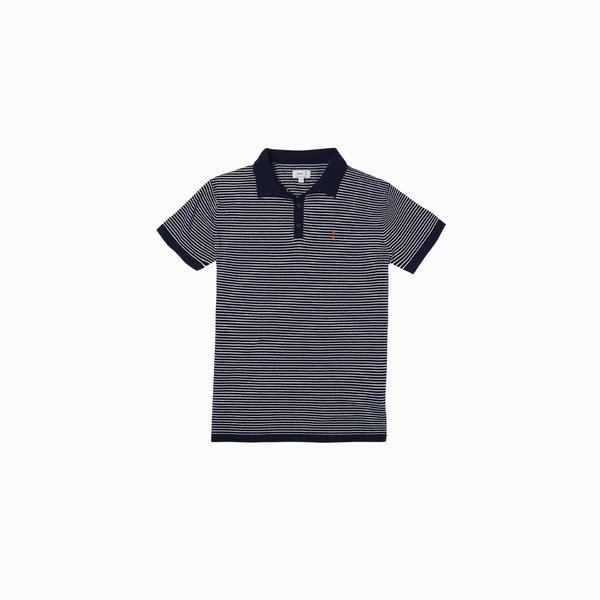 Men's Polo E86 in Cotton with striped pattern