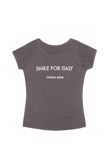 Smile for Italy T-shirt Chiara Boni La Petite Robe Donna