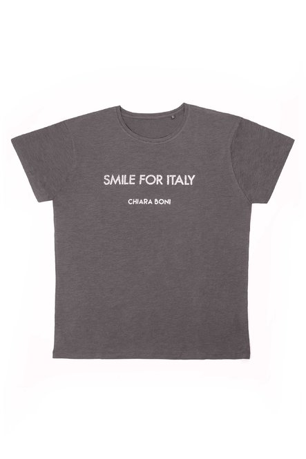 Smile for Italy T-shirt Chiara Boni La Petite Robe Man
