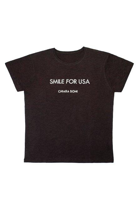 Smile for USA T-shirt Chiara Boni La Petite Robe Uomo