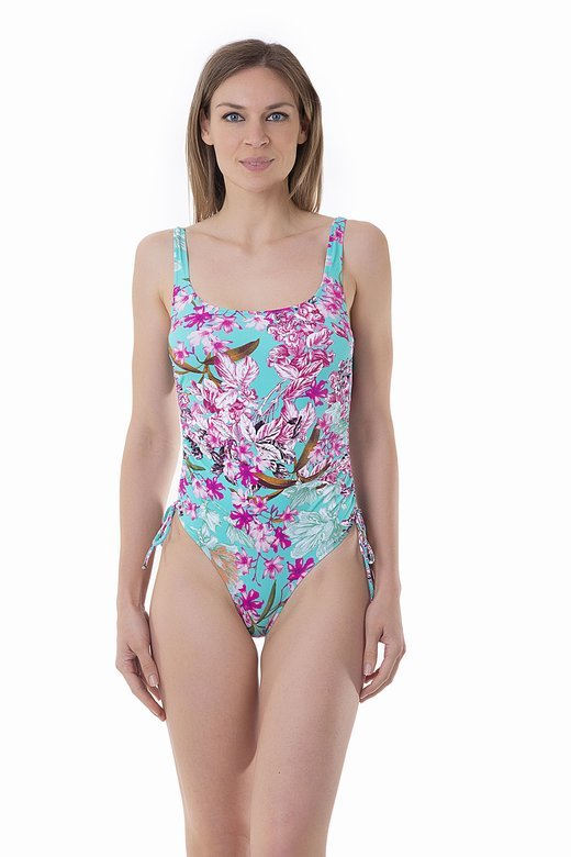 PRINTED TANK ONE-PIECE WITH DRAWSTRING