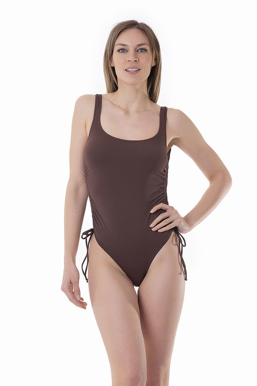 SOLID COLOUR ONE-PIECE WITH DRAWSTRING