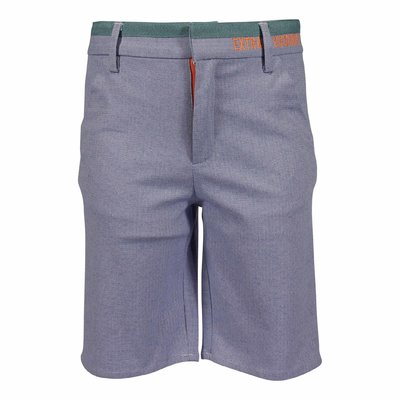 Light blue cotton shorts