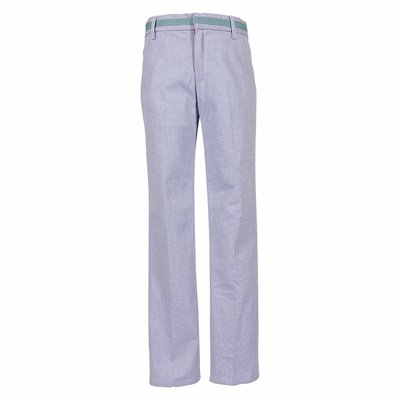 Light blue cotton pants