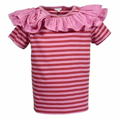 Little Marc Jacobs pink striped cotton jersey t-shirt