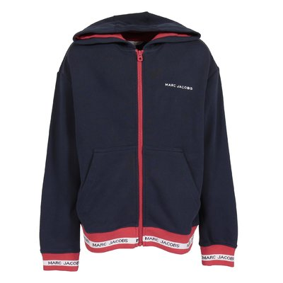 Navy blue cotton sweatshirt hoodie