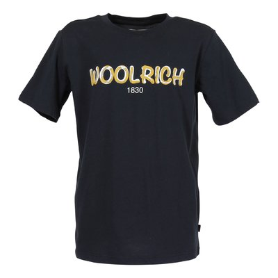 Woolrich navy blue logo cotton jersey t-shirt