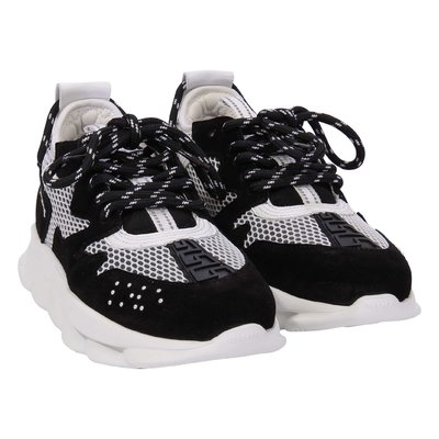 Black and white Chain Reaction sneakers